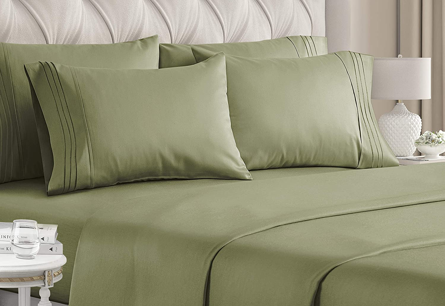 Queen excellence Size Sheet Set - 6 Bed Sheets E Piece Max 45% OFF Hotel Luxury