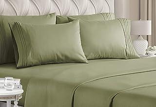 King Size Sheet Set - 6 Piece Set - Hotel Luxury Bed...