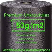 107 m² Gartenvlies Unkrautvlies 50g//m² Mulchvlies Unkrautfolie Unkrautblocker