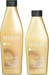 Redken All Soft Shampoo 300ml & Conditioner 250ml Duo