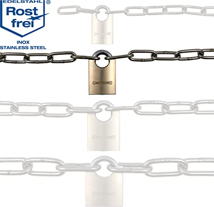 50mtr Length 8mm Galvanised Long Link Chain Max Load 400kg DIN763