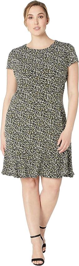 Plus Size Pebble Camo Flounce Dress