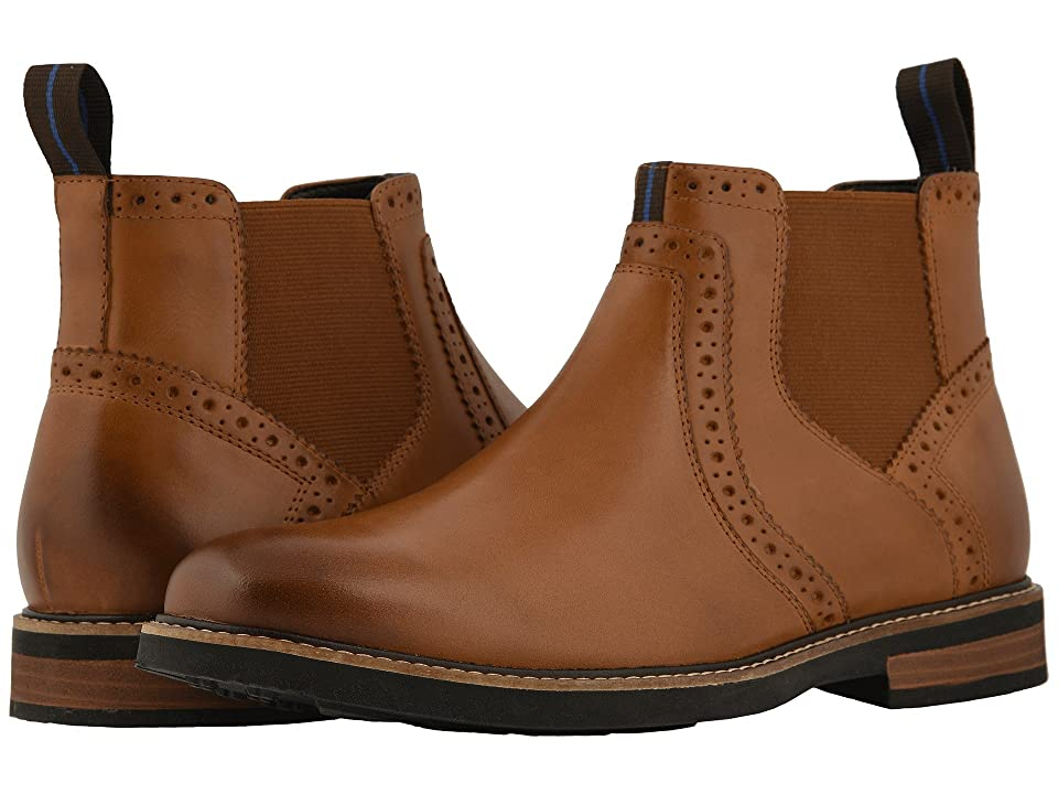 Nunn Bush Otis Plain Toe Chelsea Boot with KORE Walking Comfort Technology (Tan CH) Men