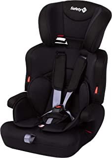 Safety 1st Ever Safe Plus Kindersitz, mitwachsender Gruppe 1/2/3 Autositz mit 5-Punkt-Gurt 9-36 kg, nutzbar ab ca. 9 Monate bis ca. 12 Jahre, Full Black