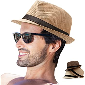Fedora Hat Mens Fedora Hats for Men Trilby Hat Straw Sun Hat Panama Hat for  Men (Pack of 3(Beige, Coffee, Khaki)) at Amazon Men's Clothing store