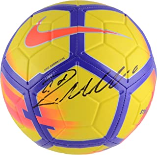 de43db8a2c5 Cristiano Ronaldo Real Madrid Autographed Yellow and Purple Nike Strike Soccer  Ball - Fanatics Authentic Certified