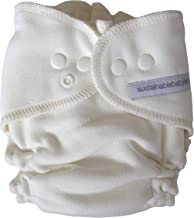Sustainablebabyish (Sloomb) Overnight Bamboo Fleece Fitted (Small (9-16 lbs), Natural)