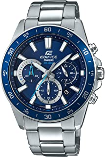 Casio Men's Edifice Quartz Watch with Stainless-Steel Strap, Silver, 21.6 (Model: EFV-570D-2AVUDF)