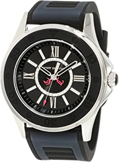 Juicy Couture Women's 1900875 Rich Girl Black Jelly Strap Watch