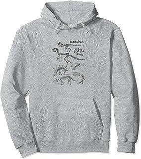 Jurassic Park Dinosaur Skeletons Sketches Sweat à Capuche