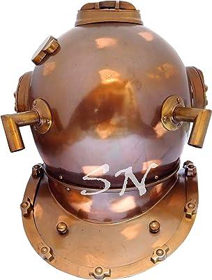 Bright Vintage Us Navy Mini Diving Divers Helmet Brass Copper Navy Mark V Decor Antiques Diving Helmets
