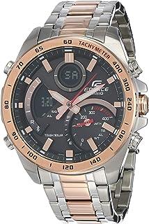 ساعة كاسيو ايديفيس للرجال كواترز انالوج رقمية بسوار من الستانلس ستيل - ECB-900DC-1ADR