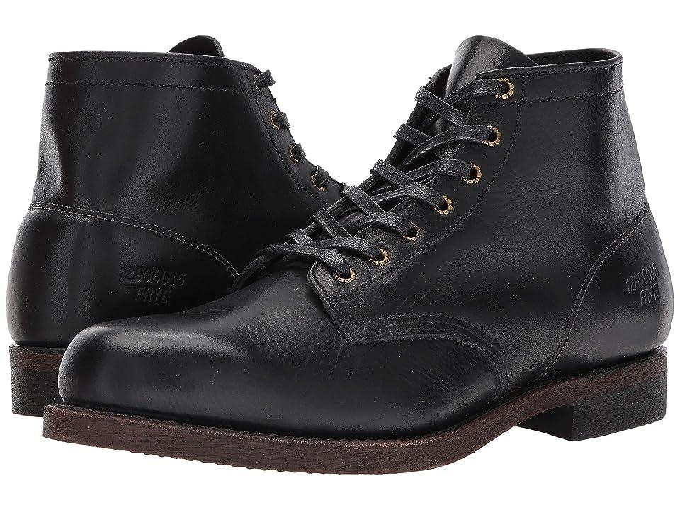 Frye Prison Boot (Black Full Grain Pull Up) Men