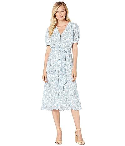LAUREN Ralph Lauren Floral-Print Georgette Dress (Mascarpone Cream Multi) Women