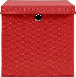 Festnight Rangement de Vetement/Caisse de Rangement en Tissu avec Couvercles/Boîtes de Rangement avec Couvercles 4 Pcs 28x...