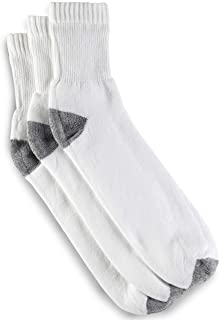 Harbor Bay by DXL Big and Tall Continuous Comfort 3-pk Quarter Crew Socks