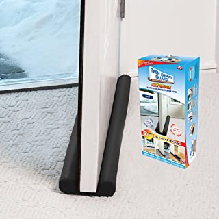 Twin Draft Guard Extreme for Doors, Black PATENTED & TRADEMARKED