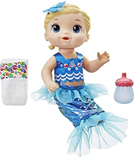 Baby Alive Dolls - Shimmer n Splash Mermaid - Blonde Girl - Interactive Kids Toys - Ages 3+