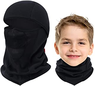 Breathable Kids Balaclava Ski Mask, Waterproof Face Mask for Boys Girls Youth