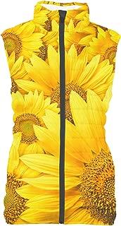 Rainbow Rules Sunflowers Womens Puffer Vest Bodywarmer Gilet