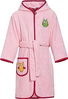 2f14784dec Playshoes Kinder Frottee-Bademantel Eule mit Kapuze, flauschig warmer  Morgenmantel für Mädchen