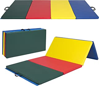 Best Choice Products 8ft 4-Panel Foam Folding Exercise Gym Mat for Gymnastics, Aerobics, Yoga, with Handles