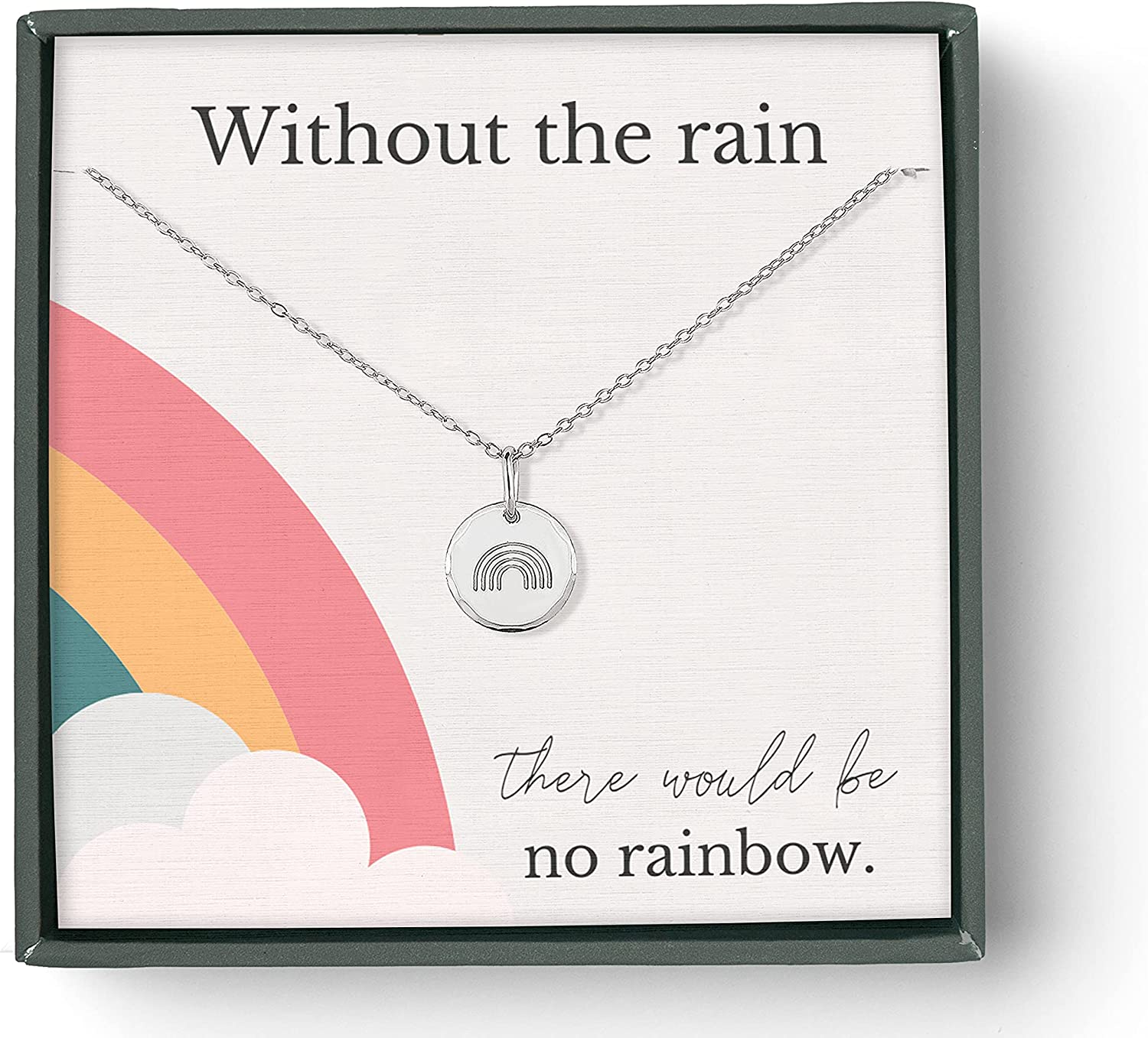 RAINBOW BABY NECKLACE FOR MOM 5 ☆ very popular NO RAIN WITHOUT Super beauty product restock quality top THE
