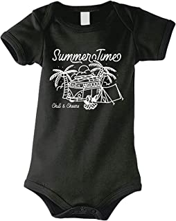 Abenteuer Baby Body Strampler Summertime Chill Van Bus Zelt Urlaub Wandern Natur