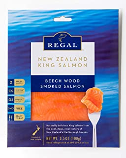 Regal Premium Smoked Salmon Variety Pack - 8 Pack (3.5 Oz Packs) Manuka, Beech Wood, Pastrami & Dill - Certified Sustainable, Non-GMO, Kosher, BSE-Free - Superfood with Healthy Omega 3 Acids