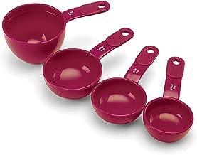 KitchenAid Plastic Measuring Cups, Pomegranate, Set of 4