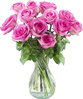 Delivery by Wednesday, July 28th Dozen Pink Roses by Arabella Bouquets