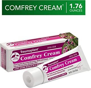 Terry Naturally Traumaplant Comfrey Cream - 1.76 oz (50 g) - Non-Staining Topical Botanical, Free Of Toxic Pyrrolizidine Alkaloids (PAs) & Parabens - For External Use Only