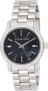 ساعة كوارتز للنساء بشاشة انالوج وسوار من ستانلس ستيل من مايكل كورس، طراز MK5302