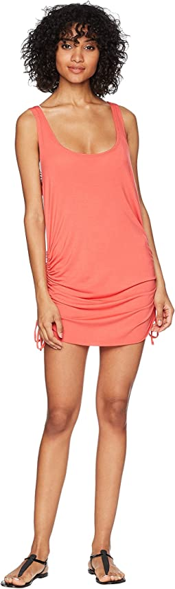 Lucky Brand Baja California Shirred Side Tank Tunic Cover-Up
