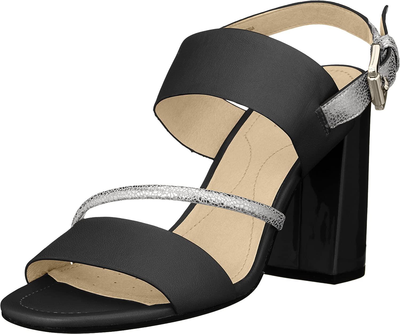 Geox Damen Sandalen, Farbe Schwarz, Marke, Marke, Modell Damen Sandalen D AUDALIES HIGH Sand Schwarz  auf der ganzen Welt gut verkaufen