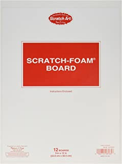 Melissa & Doug Scratch Art Scratch-Foam Board (9 x 12 inches) - 12 Boards