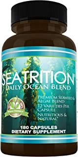 Daily Health, Seatrition Immune Thyroid Support Pure 12 Whole Seaweed Plants Vegan Friendly Natural Multi Vitamin Sea Mine...