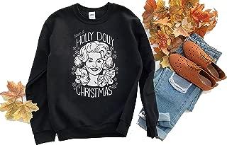 Holly Dolly Christmas Sweatshirt BS01_18