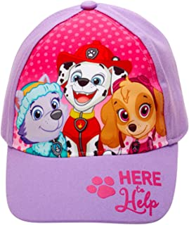Nickelodeon Paw Patrol Girls Cotton Baseball Cap (Ages 2-7) (Purple Paw Group, Age 2-4)'