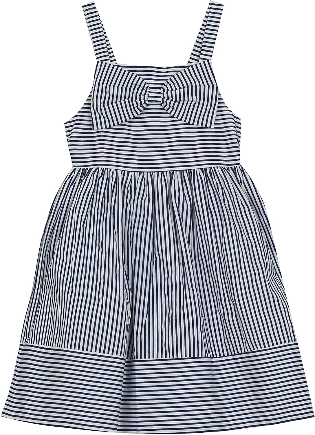 Rare Editions Toddler Girl Navy Pinstriped Sundress (2t-4t)