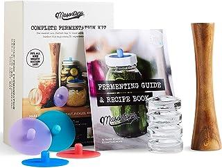 Best Masontops Complete Mason Jar Fermentation Kit - Easy Wide Mouth Jars Vegetable Fermenting Set - DIY Equipment Essentials Review