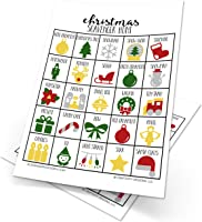 Christmas Scavenger Hunt Games for Kids, Set of 10, Christmas Party Game, Stocking Stuffer, Dry Erase (10 markers included)