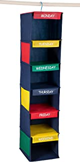 """Daily Activity Kids Closet Organizer –11"""" X 11"""" X 48""""- Prepare and Organize a Week's Worth of Your Children's Clothing, Shoes and After School Activities. Hangs Directly on The Closet Rod."""