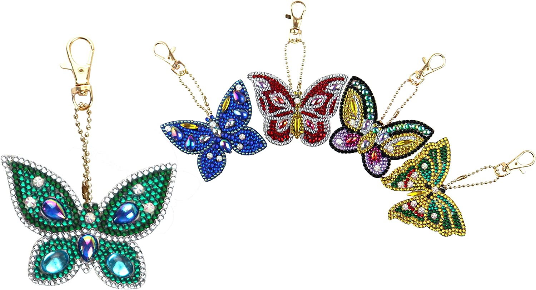 Personalized Diamond Keychain Diamond Gift Diamond Keyring Birthstone Keyring Diamond Leader