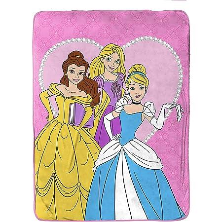 Details about  /Disney Princess Polar Fleece Throw 127 X 152 cm  Print Always Happy When I Dance