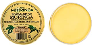 Moringa Hair Pomade - Super Hair Fertilizer for Dry Damaged Hair & Scalp - Blend of Moringa Oil, Cacao Oil, Castor Oil, And Beeswax - Hair Styling & Nourishing Formula by Zest Of Moringa.