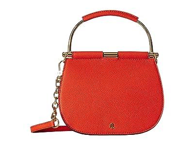 LAUREN Ralph Lauren Mason 20 Mini Satchel (Pumpkin) Handbags