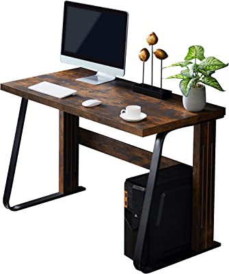 """Merax Computer Office Student Laptop Study Writing Desk Table, 47.2"""" L x 23.6"""" W x 29.5"""" H, Brown"""