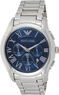 Emporio Armani Men's Dress Watch Quartz Stainless-Steel Strap, Silver, 14 (Model: AR11082)