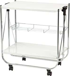 IRIS Foldable Serving Cart, White